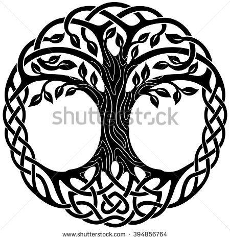 Vector ornament, decorative Celtic tree of life                              …