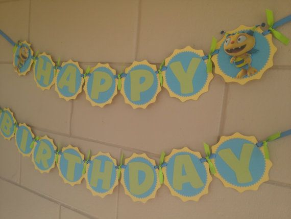 Henry Hugglemonster Birthday Banner by MemoriesBlossom on Etsy