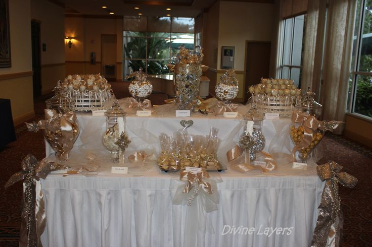 Stunning Gold Candy Buffet Display Candy Buffet Dessert