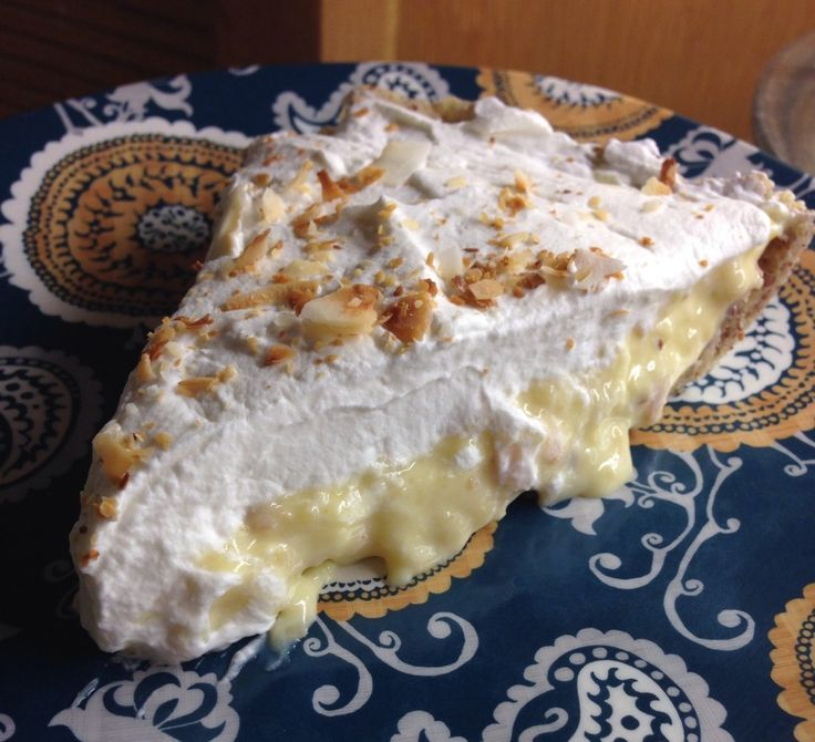 Mrs. Criddle Coconut Cream Pie.  This is amazingly good.  Only tweaking I would do is to the crust.  Next time I will double the salt, and possibly add a little sweetner too.