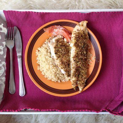 Cocina de Estación: Reineta con costra de cochayuyo