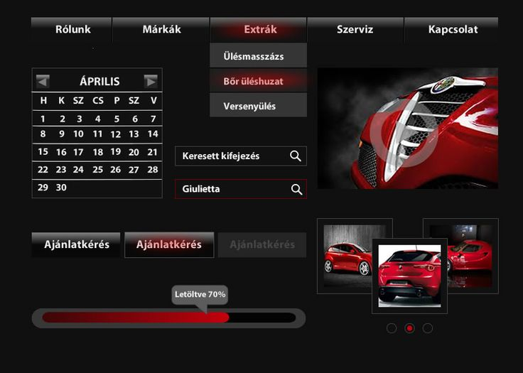 dark website design 2015