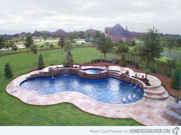 15 Remarkable Free Form Pool Designs Home Design Lover Swimming Pool Designs Backyard Pool Landscaping Pool Designs