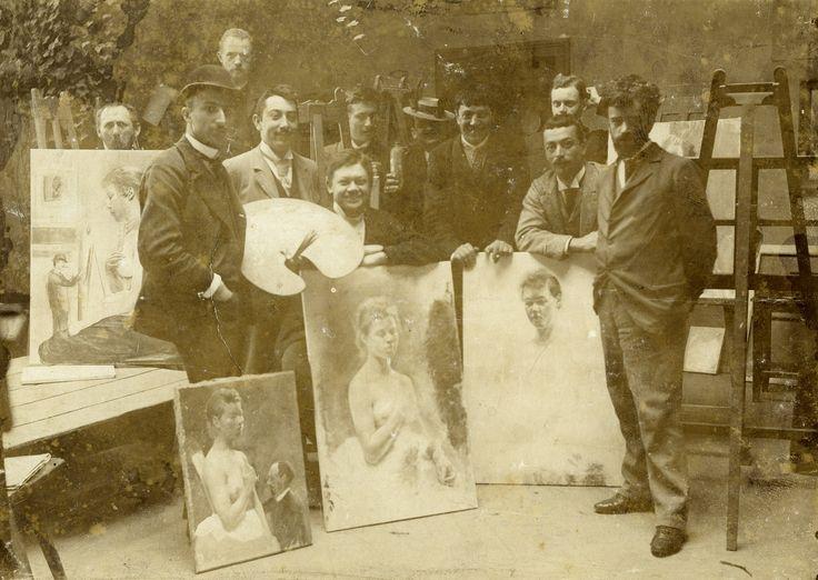 Csontváry egy 1894-es fotón - bal oldalon