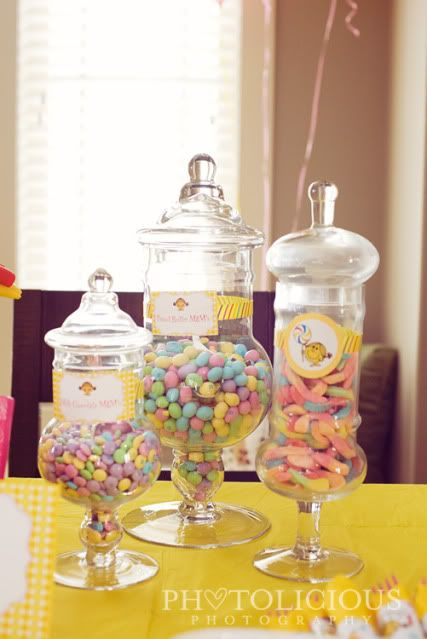 Little Miss Sunshine 1st Birthday Party Candy Party