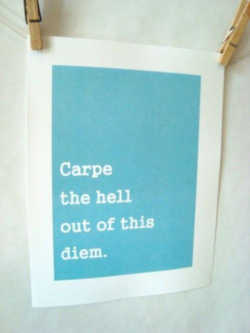 Challenge accepted: Inspiration, Hells, Quotes, Funny, Wisdom, Carpe Diem, Challenges Accepted, Living, Carpediem