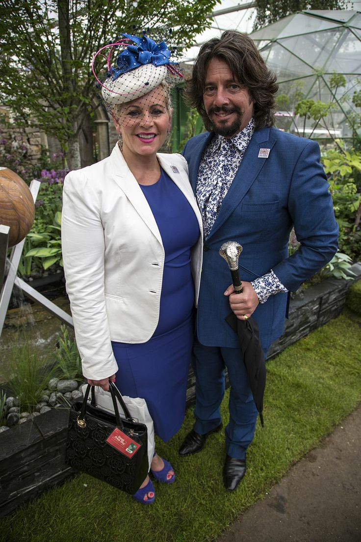 Laurence Llewelyn-Bowen in front of our Solardome Haven at the RHS Chelsea Flower Show