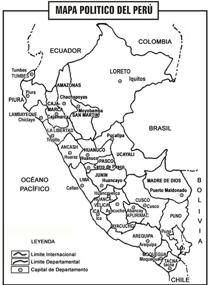 Cuentosdedoncoco Com Mapa Politico Del Peru Para Colorear Mapa Politico Mapas Mapa Para Colorear