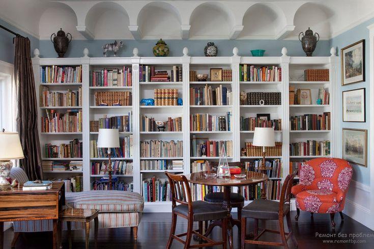 Интерьер и дизайн домашней библиотеки   Красивое место для чтения