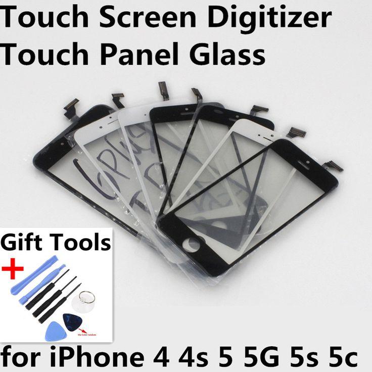 Écran tactile Digitizer Avant Écran Tactile Lentille En Verre de Panneau Écran Tactile pour iphone 4 4s 5 5g 5s 5c Cadeau Outils Pièces De Rechange