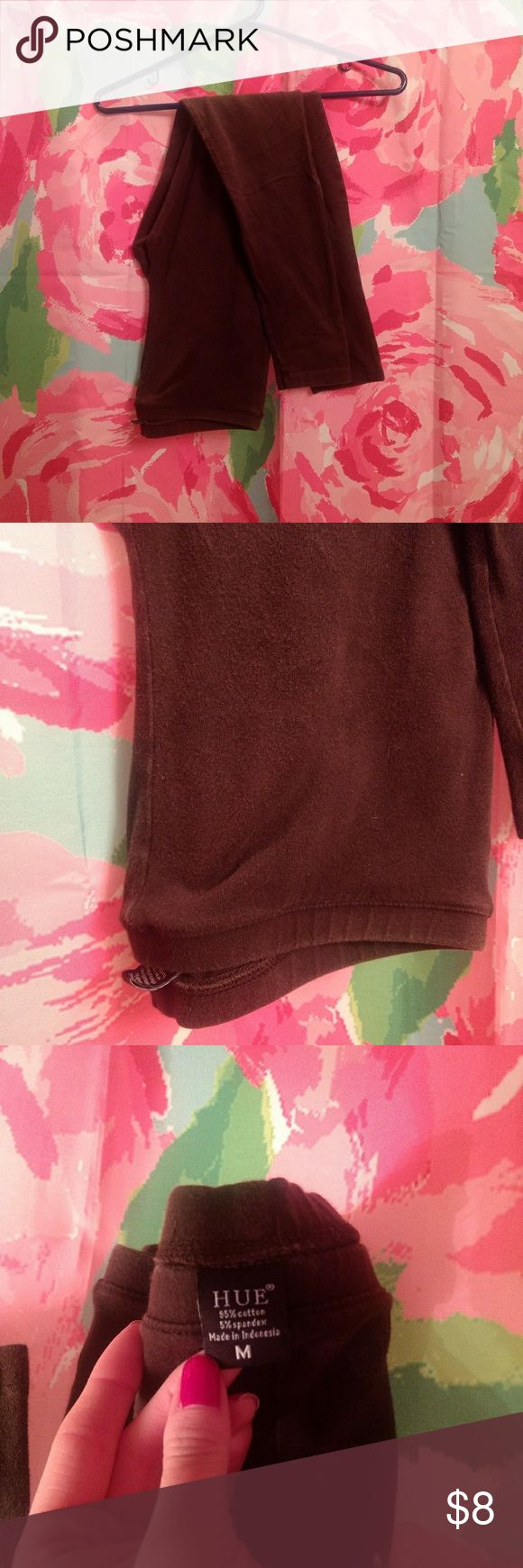 Brown leggings Medium Worn once with Halloween costume Dark brown HUE Pants Leggings
