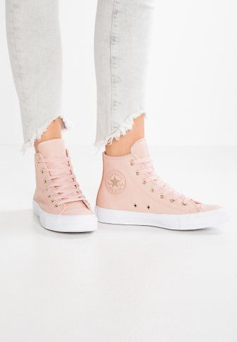 Baskets Chuck Hoog Taylor Converse Salut Rosa All Star
