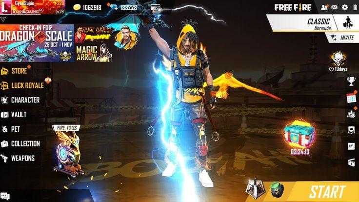 Garena Free Fire Live New Blue Flame Thor Ak47 Blue Flames Fire Flaming Dragon
