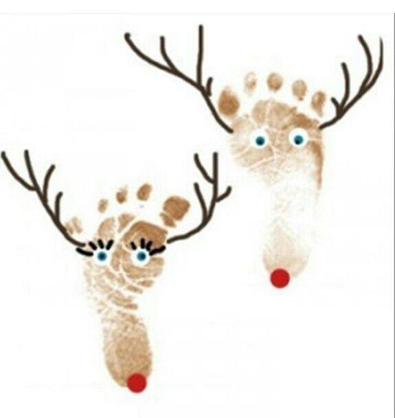 Reindeer foot prints