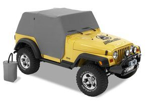 The new All Weather Trail Cover protects the windshield and interior of your Jeep from the harsh effects of sun, wind and rain. Door opening protection flaps are a new feature offered this year.
