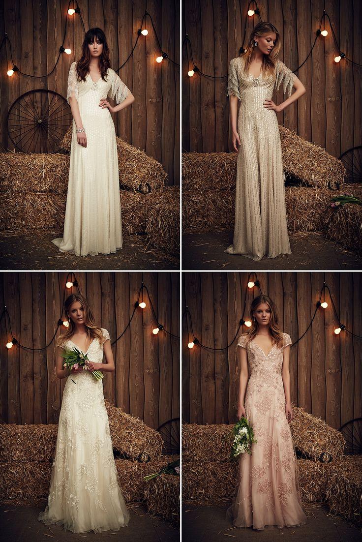 Glitter, Glamour, Gipsy: In die neue Kollektion von Design-Ikone Jenny Packham haben wir uns sofort verliebt. Detailverliebt und üppig verziert wie immer, spielendie Brautkleider der Saison 2017 a…