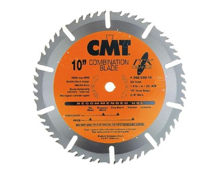 Itk Industrial Combination Circular Saw Blade This Blade Features A Thin Kerf Which Makes It Circular Saw Blades Table Saw Blades Sliding Compound Miter Saw