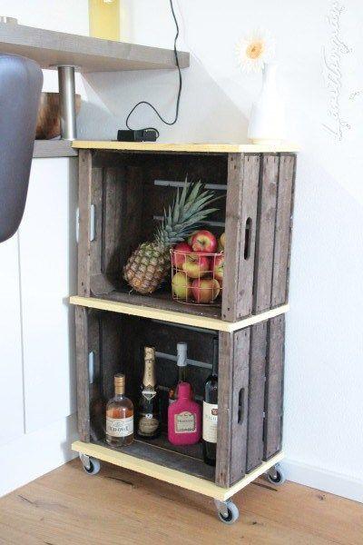 Die besten 25+ Servierwagen Ideen auf Pinterest Getränkewagen - küchenwagen mit mülleimer
