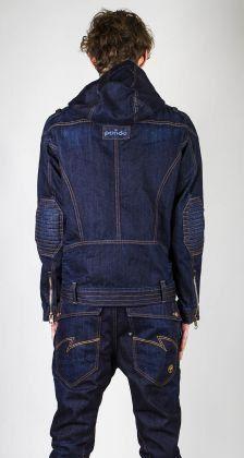 Denim jacket for men Mickey Moto / men raw jeans by Pandowear