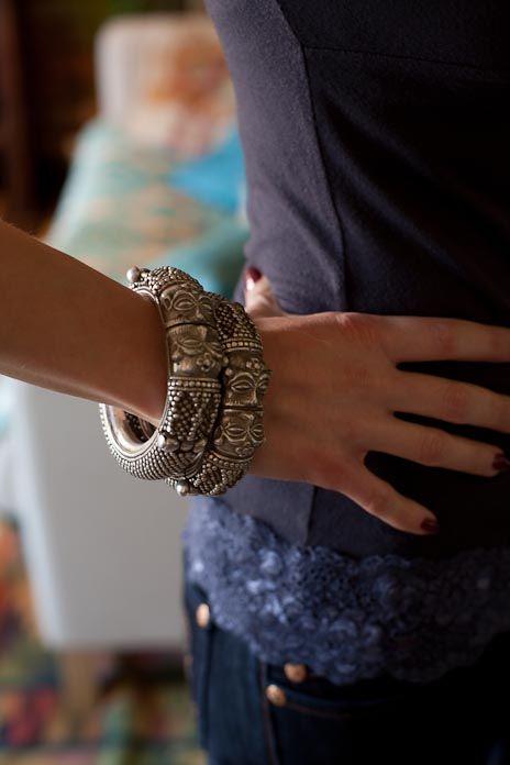 Antique Tribal Indian Silver Jewellery - Rabari