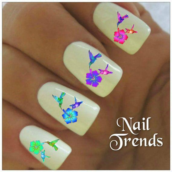 Colibri Nail Decal 20 vinyle adhésif Stickers ongles tatouages Nail Art
