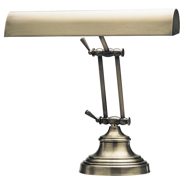 Solid Brass Piano Lamp in Antique Finish - Style # 94071