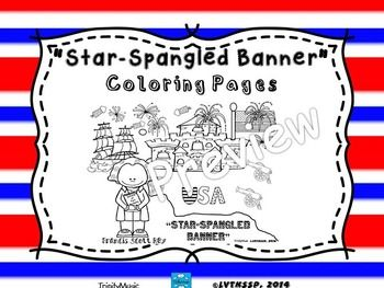 star spangled banner coloring pages - photo#13