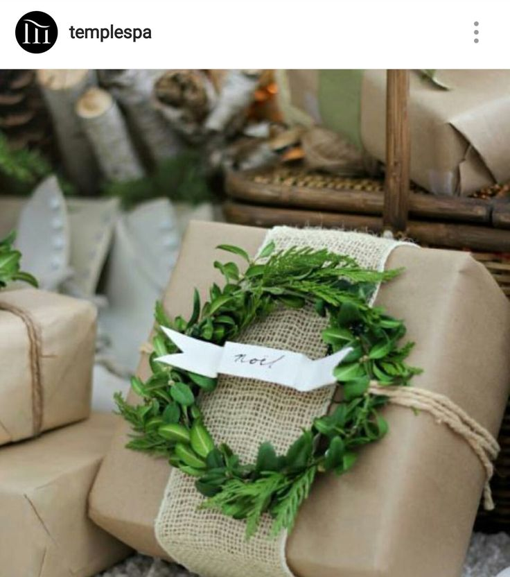 Christmas gift wrap ideas - natural & organic. Temple Spa