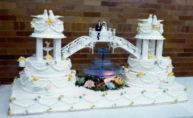 Tiered Wedding Cakes With Fountains Unique Double