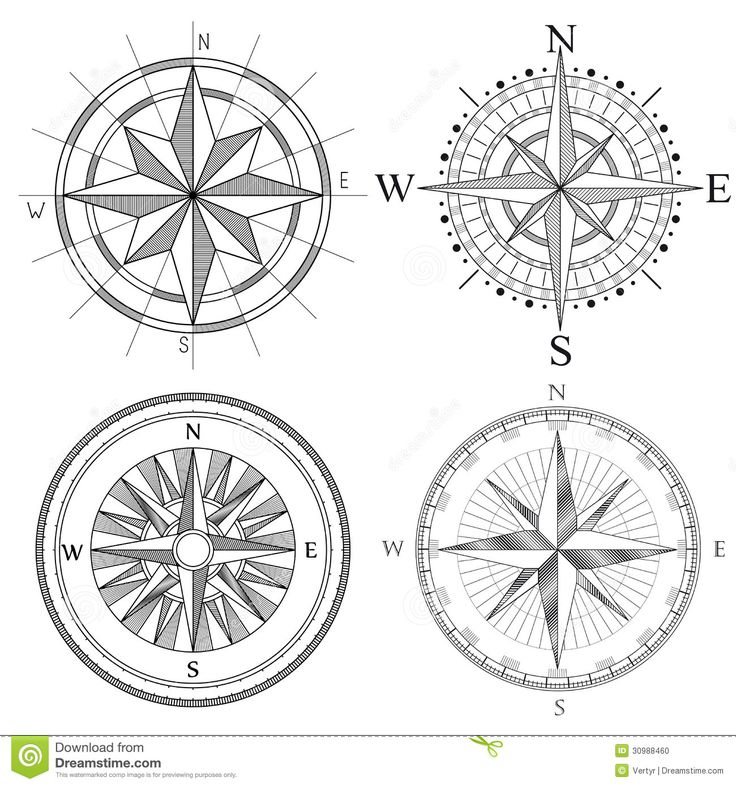 Set Illustration Of Artistic Compass. - Download From Over 63 Million High Quality Stock Photos, Images, Vectors. Sign up for FREE today. Image: 30988460