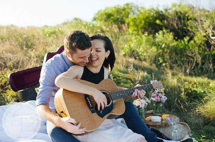 Engagement Picnic Guitar Photography