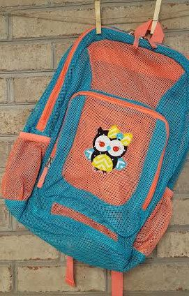 Monogrammed Backpack  Mesh Backpack  Back to by StitchingWithEllie