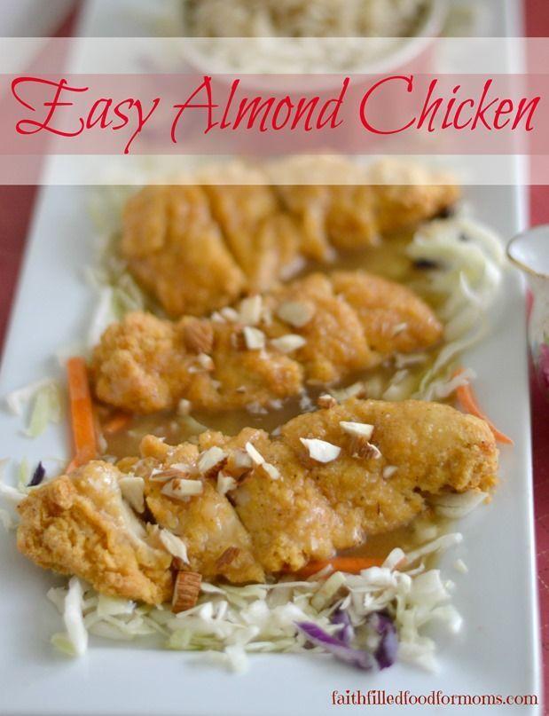 Smoked almond chicken recipe