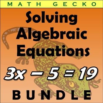 This bundle includes SEVEN Solving Algebraic Equations riddle/picture/maze worksheets, covering everything from simple one-step equations through multi-step inequalities. Students will enjoy solving these worksheets as they enable them to complete riddles, pictures and a maze.