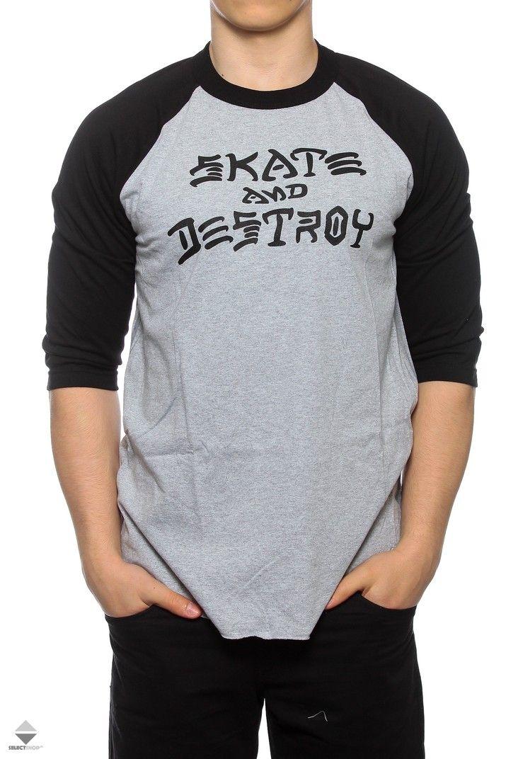 Longsleeve Thrasher Skate And Destroy 3/4