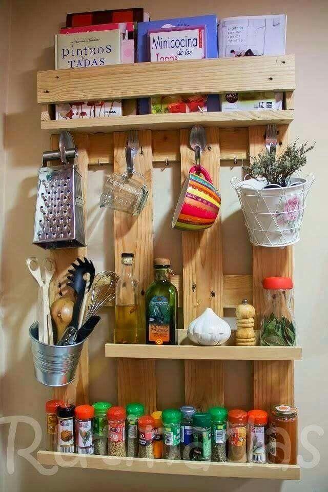 Organizador cozinha/ Pallet