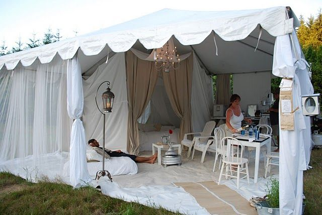 If you gotta tent camp, might as well do it in style