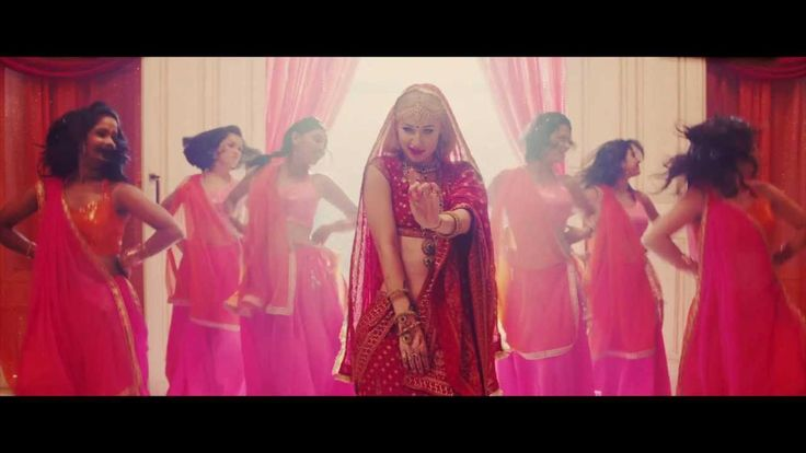 "This is rapper Iggy Azalea's music video for her song ""Bounce"". Azalea's dressing up in traditional Indian bridal wear and singing about a completely unrelated topic is a clear indication that her dress, location and backup dancers were merely used as props. Basically she is reducing Indian culture to an exotic prop."