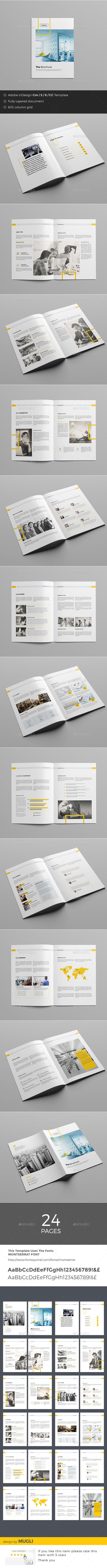 The Brochure Template InDesign INDD. Download here: https://graphicriver.net/item/the-brochure/17469521?ref=ksioks