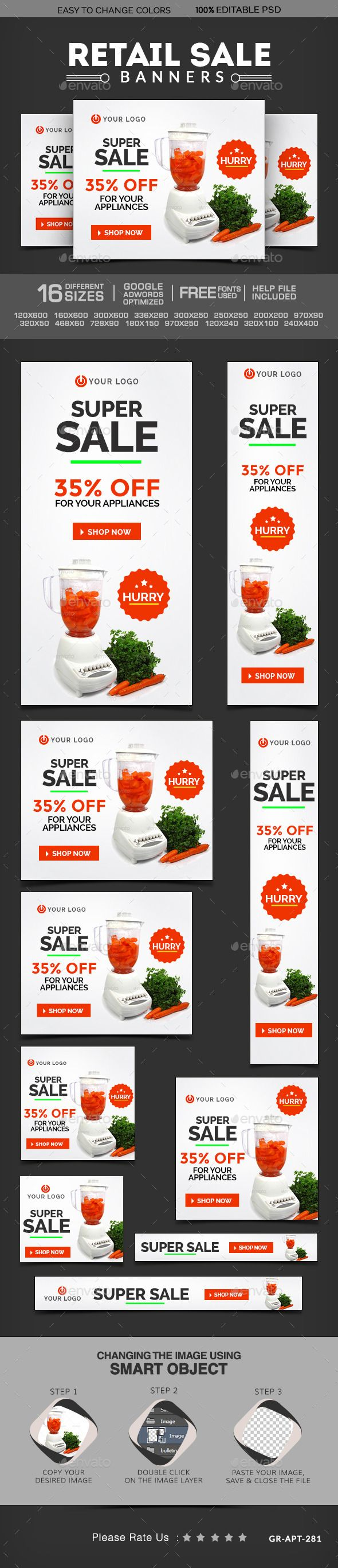 Retail Sale Banners Template PSD | Buy and Download: http://graphicriver.net/item/retail-sale-banners/9982699?ref=ksioks