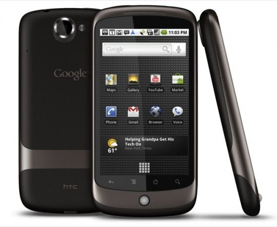 Nexus One, Google's first Nexus handset and the first with 2.2 Froyo update.
