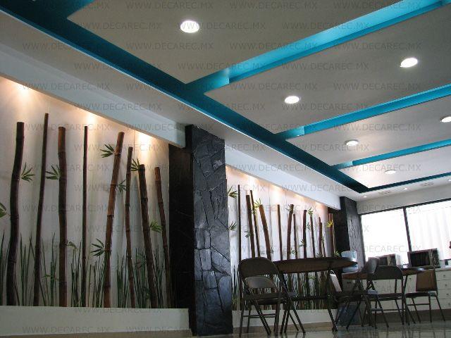 Tablaroca decorativa interiores decorativos pinterest - Plafones modernos ...