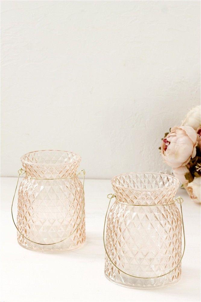 Рифленый подсвечник в нежно-розовом цвете www.thekomillfocollection.ru