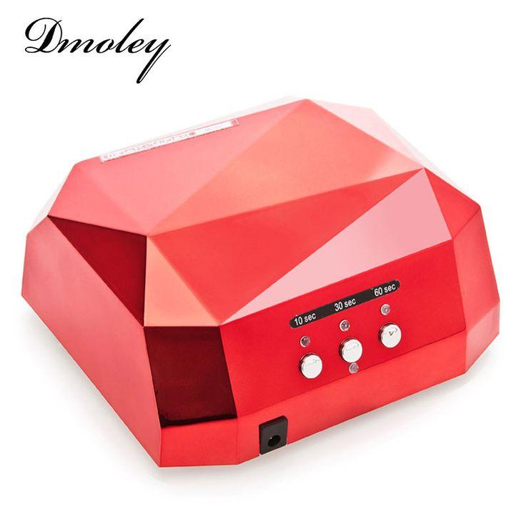 Dmoley 36W LED UV Lamp Nail Dryer Diamond Shaped LED UV Nail Lamp Curing for UV LED Gel Nails Polish Nail Art Tool Sun led light