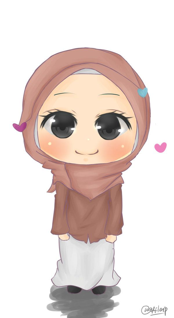 Muslimah Chibi by wafflerp.deviantart.com on @DeviantArt