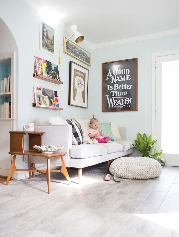 A Living Room With Kids | Kid friendly living room, Family ...