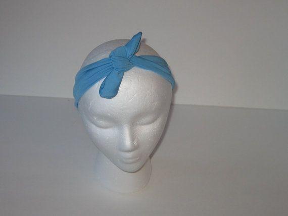 Top Knot Headband, Tie Headband, Tie Knot Headband, Blue Headband, Turquoise Blue Headband, Aqua Headband, Tied Headband, Baby Girl Headband