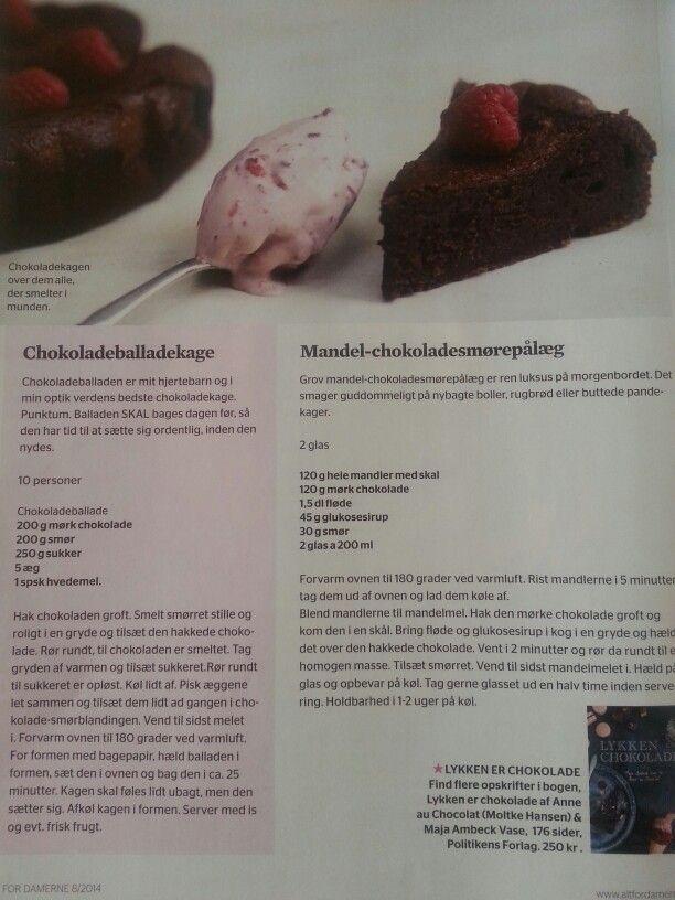 Chokoladeballadekage :)