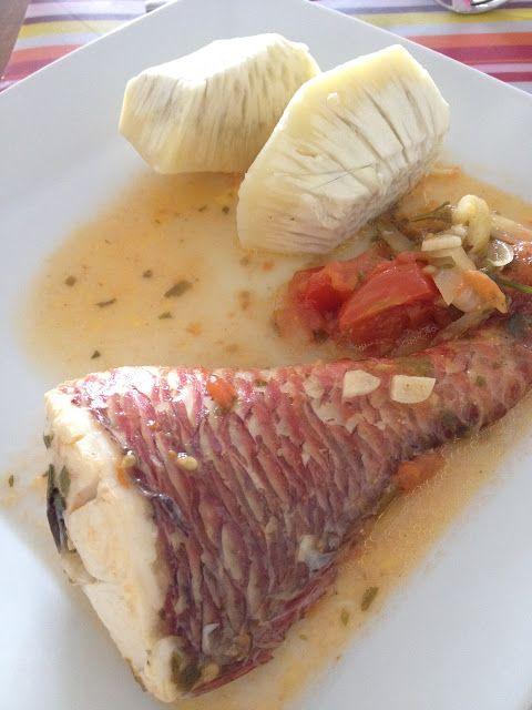 Le court-bouillon de poisson.