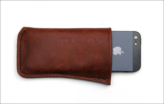 DE BRUIR Brown Leather phone cover